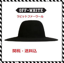 Off-White(オフホワイト) ストローハット 【関税・送料込】海外限定新作OFF-WHITEラビットファーハット