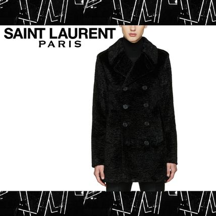 Saint Laurent (サンローラン) Faux Fur Pea coat ピーコート