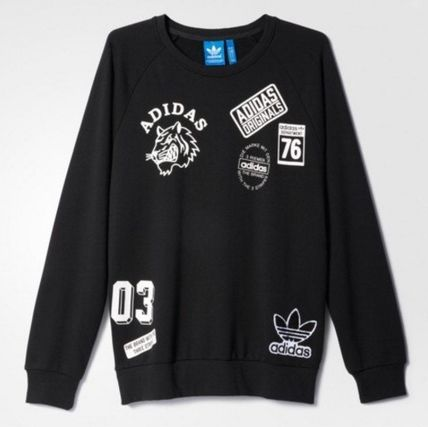 adidas スウェット・トレーナー ADIDAS Men's Originals☆LOGO CREW SWEATSHIRT AY8632(2)