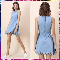 【送料関税込・国内発送】Circle Cutout Hem Denim Dress