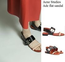 Acne Ade Black/desert Flat sandals フラットサンダル