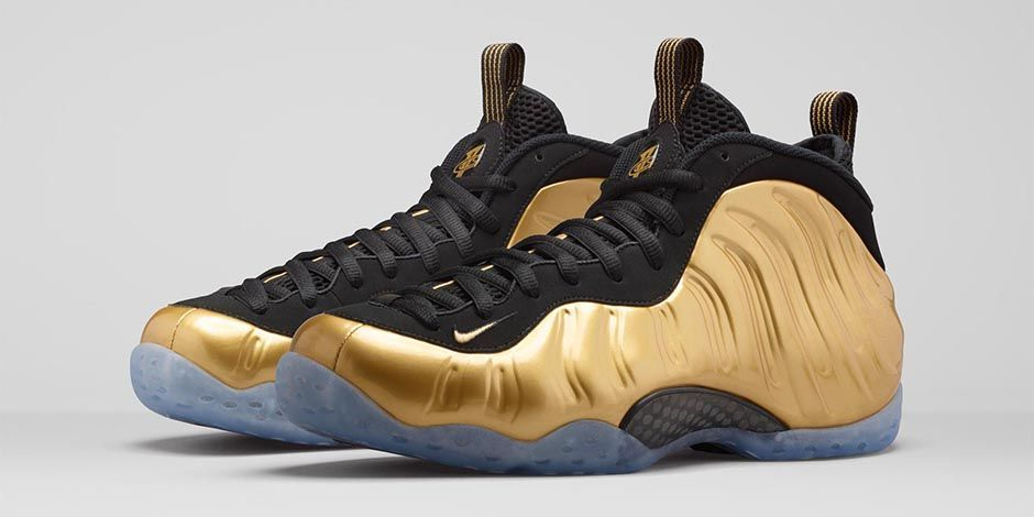 NIKE Air Foamposite One Metallic Gold