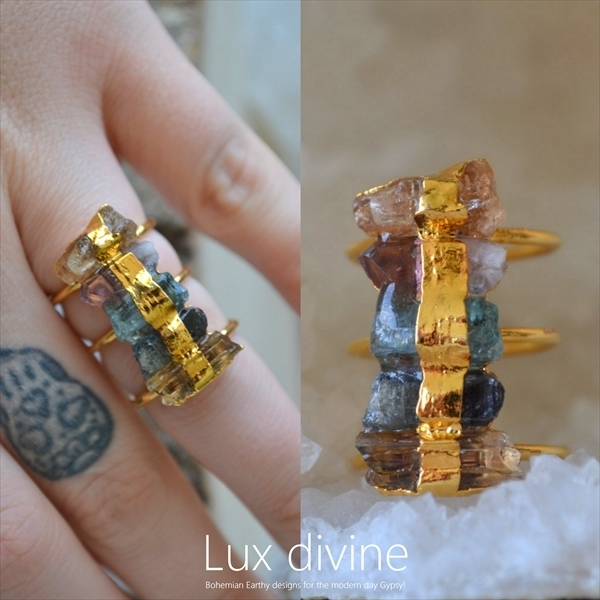 Spectrum 24kt Gold Electroformed リング★US6.5★Luxdivine
