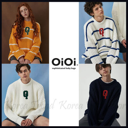 5252 by O!Oi ★ LOGO FISHERMAN SWEATER 4色