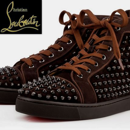 16W新作☆ルブタン Louis Orlato Spikes Men's Flat スニーカー