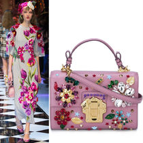 16-17AW DG649 LOOK43 EMBELLISHED 'LUCIA' BAG