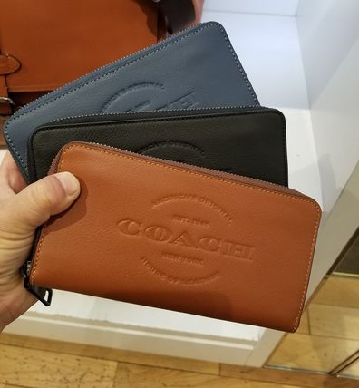 check out a2953 9aaa0 【COACH】新作☆コーチ レザー長財布 ラウンドファスナー送料込