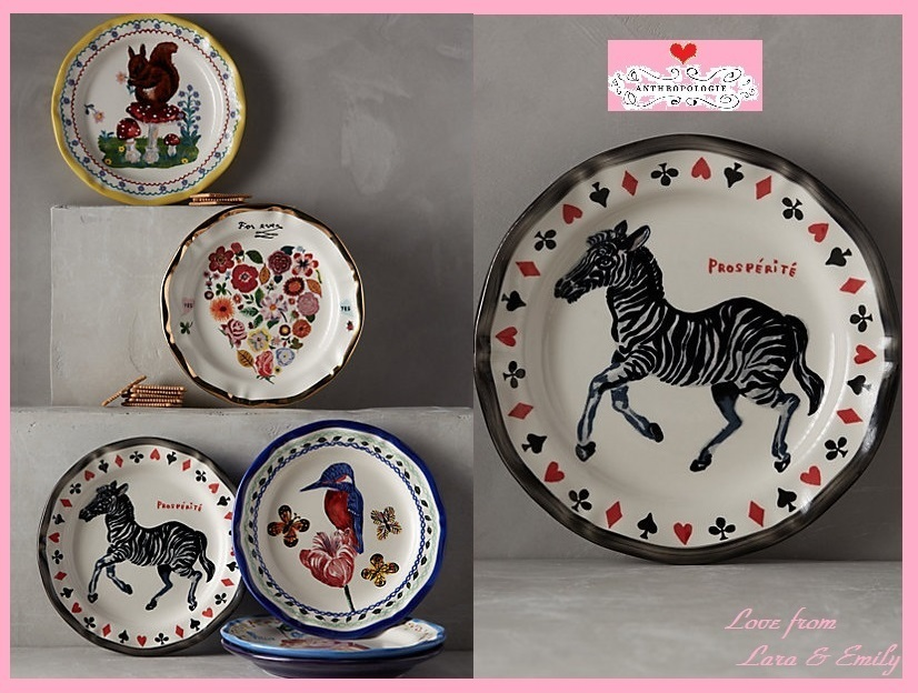 即納☆店舗完売【Anthropologie】Francophile Dinner Plate ZBR