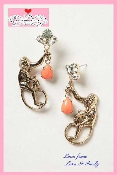 超レア*即納☆店舗完売【Anthro】Menagerie Monkey Gem Drops