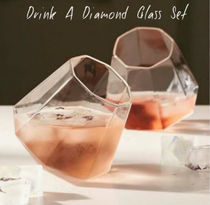 Drink A Diamond Glass Set  クリア・ブルー・ローズ