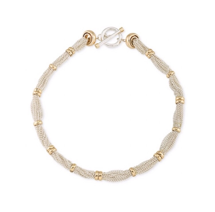 ★Lauren Ralph Lauren★Two-Tone Multi-Chain Toggle Necklace