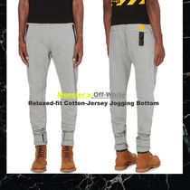 ◆Moncler x Off-White◆Tapered Cotton-Jersey Jogging Bottoms
