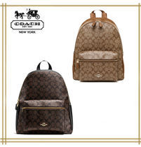COACH★ CHARLIE BACKPACK IN SIGNATURE  F38301 国内発送
