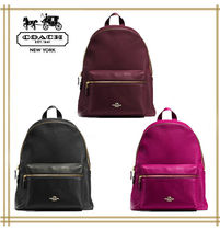 COACH★CHARLIE BACKPACK IN PEBBLE LEATHER  F38288 国内発送!