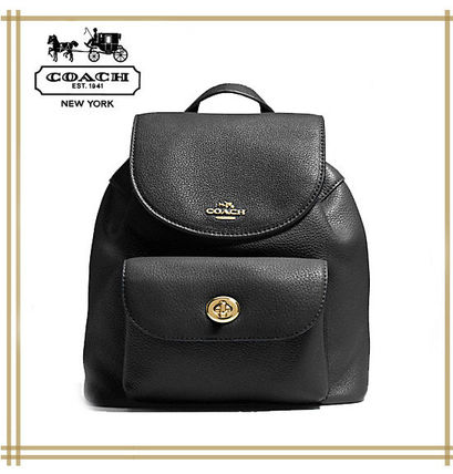 COACH★MINI BILLIE BACKPACK IN LEATHER F37621 国内発送!