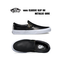 VANS★CLASSIC SLIP ON METALLIC GORE★レザー★兼用★22.5~28cm