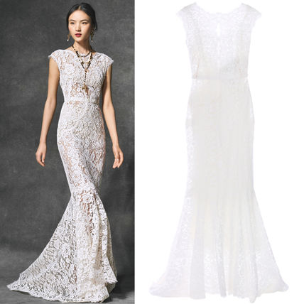 16-17AW DG695 OPEN BACK LACE GOWN