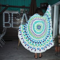 【新作】【即発】Beach Round Towel 《GREEN》