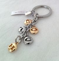 COACH 65430【即発】LETTER DISCS SILVER GOLD TONE KEY RING