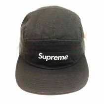 Supreme FW16 Washed Chino Twill Camp Cap 黒 (ステッカー付き)