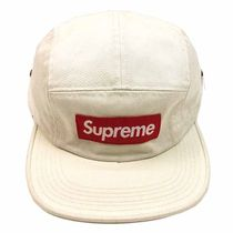 Supreme FW16 Washed Chino Twill Camp Cap ストーン (WHITE)