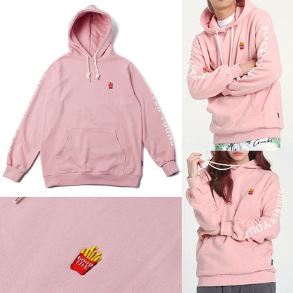 BTSジン着用デザイン frenchfries hoodie_PINK 関税込★国内発