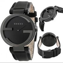 入手困難!GUCCI Interlocking G Black Unisex Watch