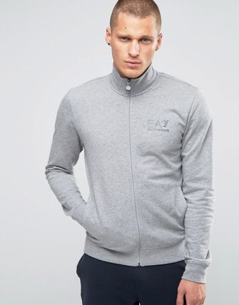 Emporio Armani EA7 Tracksuit Set With Chest Logo Gray Top