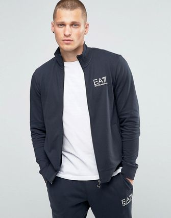 Emporio Armani EA7 Tracksuit Set With Chest Logo In Navy