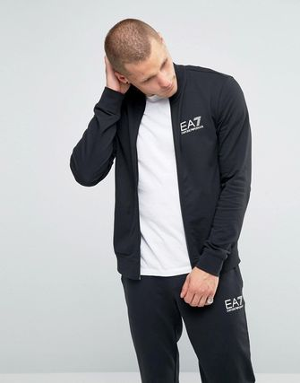 Emporio Armani EA7 Tracksuit Set With Chest Logo In Black