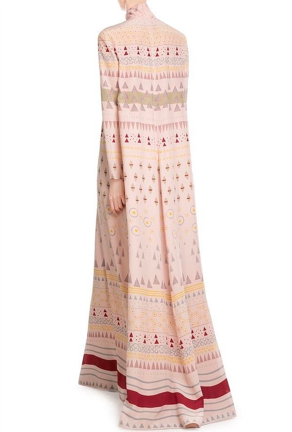 16-17AW V461 LOOK26 TIERED MIDI DRESS IN PRINTED SILK