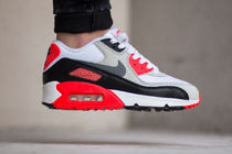 "★WMNS★[NIKE] Air Max 90 Prm Mesh GS ""Infrared""【送料込】"