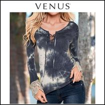 Venus* TIE DYE CROCHET DETAIL TOP