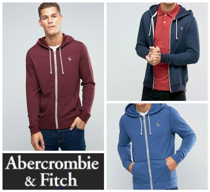 Abercrombie & Fitch ロゴ入りジップアップパーカー3色☆関送込