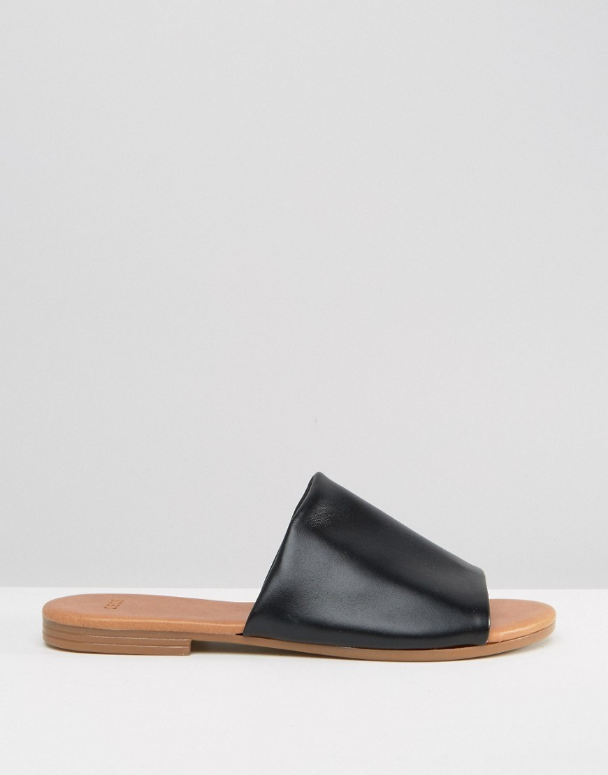 送料込 ASOS FIA Soft Leather Sliders