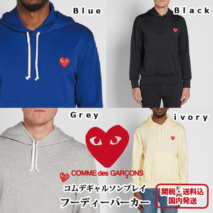 +COMMEdesGARCONS+ロゴ付フーディパーカー4色 関送込・国内発送