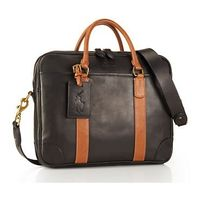 【送料込】Polo Ralph Lauren ★Two-Toned Leather Commuter Bag