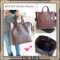 国内即納★PRADA★2WAY★Vitello Phenix★トートバックBruciato
