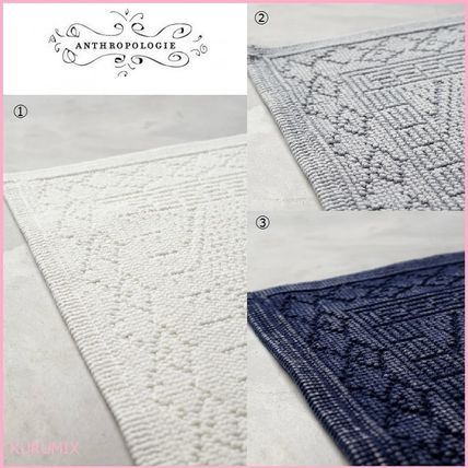 Anthropologie cotton fabric bath mats