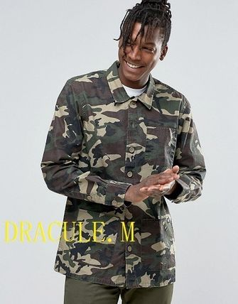 ASOS #Dickies# camouflage print and over shirt