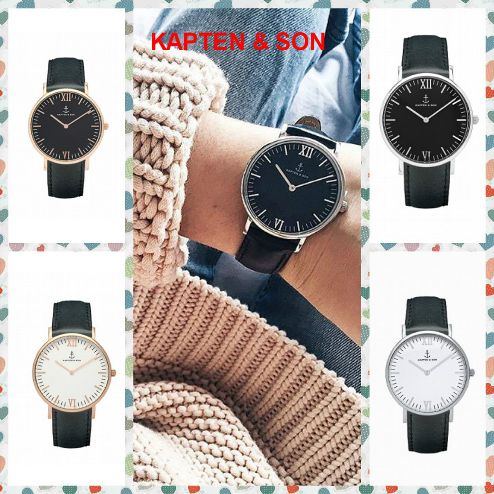 【KAPTEN & SON】Black Leather(36MM) CAMPINA