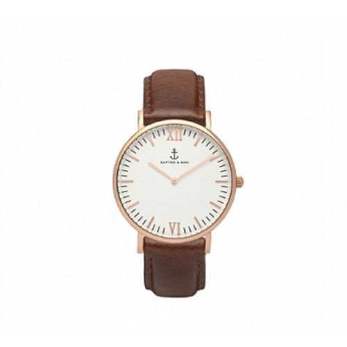 【KAPTEN & SON】Brown Leather(36MM) CAMPINA