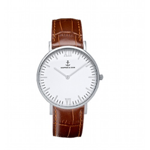 【KAPTEN & SON】Brown Croco Leather(36MM) CAMPINA