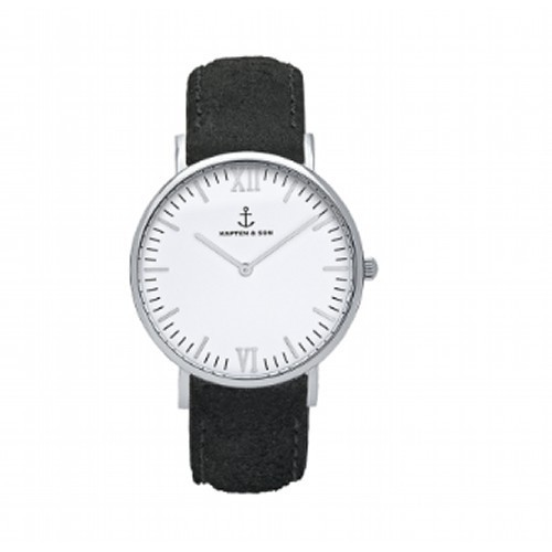【KAPTEN & SON】Black Vintage Leather(36MM) CAMPINA
