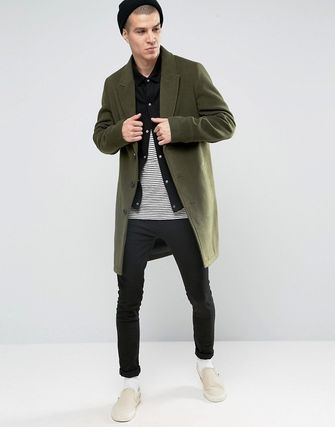 ASOS Overcoat in Khaki