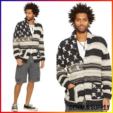 Denim&Supply☆FLAG COTTON SHAWL CARDIGAN 関税/送料込