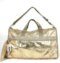 "LeSportsac US限定 ""GOLD FOIL SNAKE"" L-WEEKENDER 7185-C056"