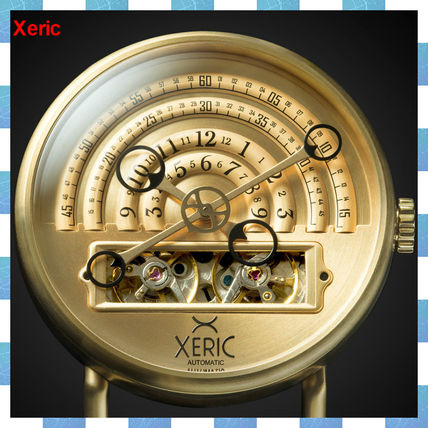 【Xeric】Halograph Automatic Gold Brownレザー46mm