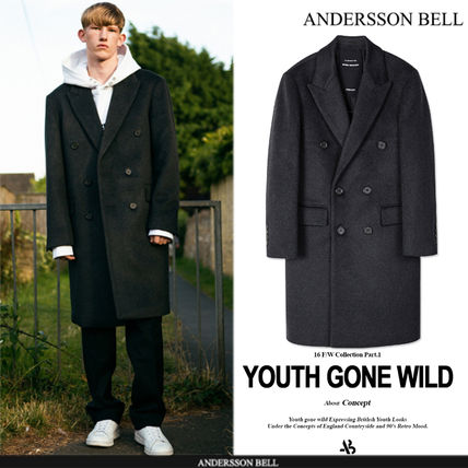 ★F/W★ANDERSSON BELL★NEW GARRET DOUBLE COAT - CHARCOAL