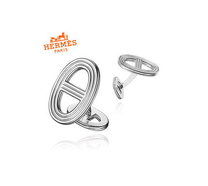 *HERMES*Chaine d'Ancre 24 Silver Cufflinksメンズカフス